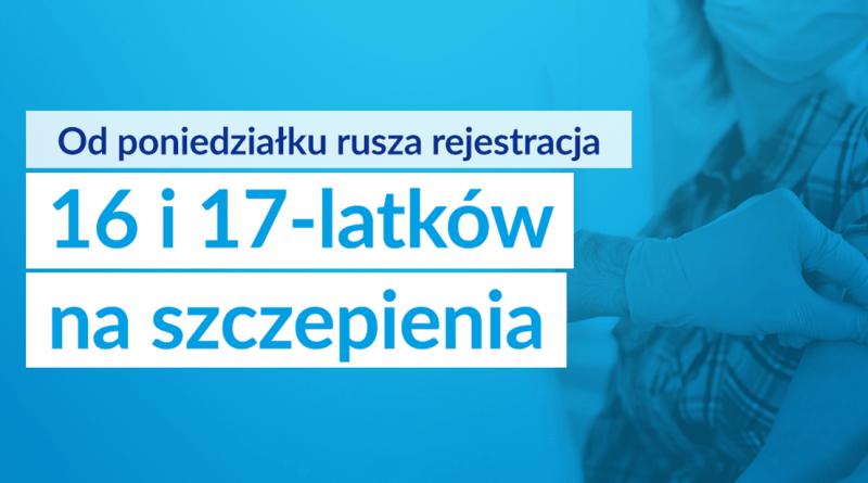 Rusza rejestracja 16 i 17-latków na szczepienia